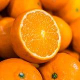 Nahaufnahme von geschnittenen Orangen Stockfoto