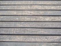 Nahaufnahme von hölzernen horizontalen Linien Muster Lizenzfreies Stockbild