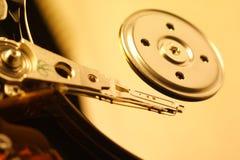 Nahaufnahme von Harddrive/von Festplatte Stockfotografie