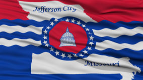 Nahaufnahme von Jefferson City Flag Lizenzfreies Stockbild