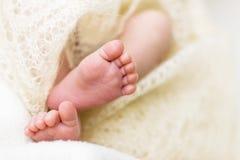 Nahaufnahme von kleinen Babyfüßen Lizenzfreies Stockbild