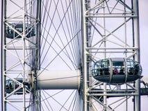 Nahaufnahme von London-Auge Lizenzfreies Stockbild