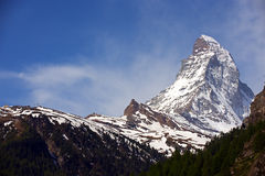 Nahaufnahme von Matterhorn Stockbild