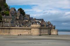 Nahaufnahme von Mont Saint-Michel normandie frankreich Stockfoto