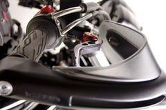 Nahaufnahme von Motorrad-Lenkstangen Lizenzfreie Stockbilder