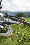 Nahaufnahme von mountainbike Stockfotos