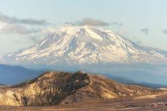Nahaufnahme von Mt Adams von der Schloss-Spitze Stockbild