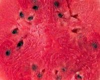 Nahaufnahme von neuen Scheiben der roten Wassermelone auf weißem Hintergrund Es hat einen Beschneidungspfad ein saftiger Schnitt  lizenzfreies stockfoto