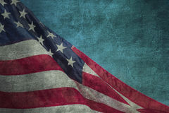 Nahaufnahme von Schmutz amerikanischer Flagge Lizenzfreies Stockfoto