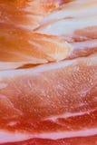 Nahaufnahme von Schweinebauch-Scheiben Stockfotos