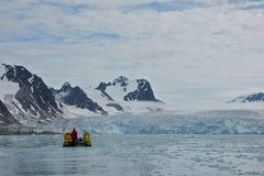 Nahaufnahme von Smeerenburgfjorden in Svalbard Lizenzfreies Stockfoto