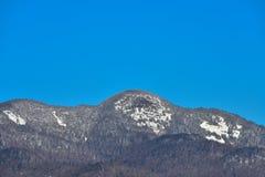 Nahaufnahme von Snowy-Berg im Adirondacks Stockfotos