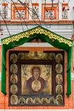 Nahaufnahme von St. Basil Cathedral auf Winter in Moskau, Russland Lizenzfreies Stockfoto