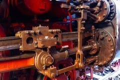 Nahaufnahme von steerage einer Dampflokomotive stockbilder