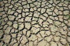 Nahaufnahme von trockenem brach Erde Lizenzfreie Stockfotos
