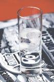 Nahaufnahme weg vom kalten Glas des klaren D-Klipps auf Route 66 Lizenzfreies Stockbild