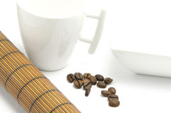 Nahaufnahmeabbildung der Kaffeebohnen Lizenzfreies Stockfoto