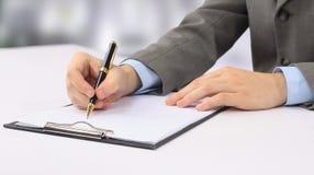 Nahaufnahmeabbildung Handdes schreibens Lizenzfreies Stockfoto