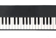 Nahaufnahmeansicht der Klaviertastatur Lizenzfreie Stockfotografie