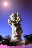 Nahaufnahmeansicht des Schachs. Lizenzfreies Stockbild