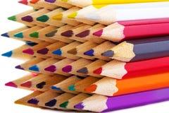 Mehrfarbenbleistifte Lizenzfreies Stockfoto