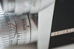 Weinlesefilm-Kameranahaufnahme Stockbild