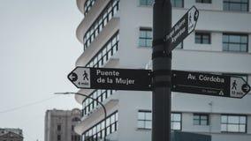 Nahaufnahmebild eines Straßenschildes Stockfoto