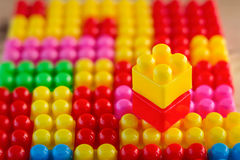 Nahaufnahmeblockspielwaren Lizenzfreies Stockfoto