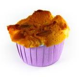 Nahaufnahmecupkuchen mit Mandeln Lizenzfreie Stockbilder