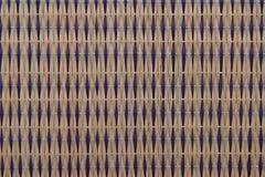 Nahaufnahmedesign Handcraft natürlichen Hintergrund der Mustergewebebeschaffenheit Lizenzfreies Stockbild