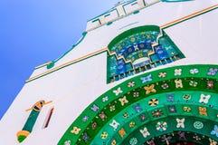 Nahaufnahmedetail über Kirche, Chamula, Mexiko lizenzfreie stockfotografie