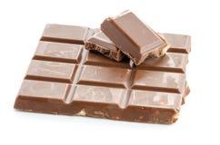 Nahaufnahmedetail der Schokolade Stockfotografie