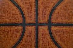 Nahaufnahmedetail des Basketballball-Beschaffenheitshintergrundes stockfoto