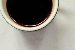 Nahaufnahmedetail einer Kaffeetasse Lizenzfreie Stockbilder