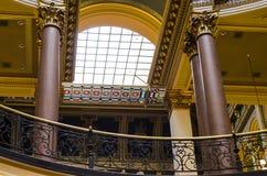 Nahaufnahmedetails der Architektur, Staat Iowas-Kapitol Lizenzfreie Stockfotos