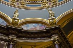 Nahaufnahmedetails der Architektur, Staat Iowas-Kapitol Stockbild