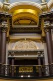 Nahaufnahmedetails der Architektur, Staat Iowas-Kapitol Lizenzfreies Stockbild