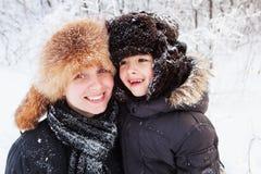Nahaufnahmefamilienporträt Stockfoto
