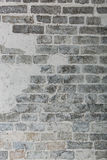 Nahaufnahmefoto der Whitewash-Backsteinmauer Stockfotos