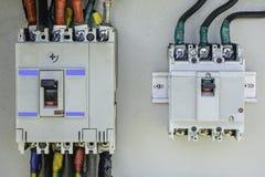 Nahaufnahmefoto des elektrischen Unterbrechers Stockfoto