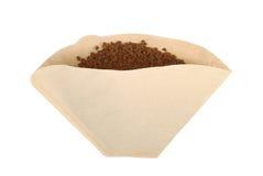 Nahaufnahmefoto des Papierkaffeefilters Lizenzfreies Stockfoto