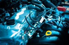 Nahaufnahmefoto eines sauberen Motors lizenzfreie stockbilder