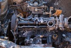 Nahaufnahmefoto von brennen Automotor aus stockbilder