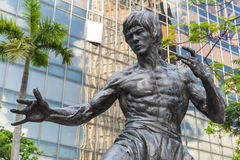 Nahaufnahmefoto von Bruce Lee-Statue Stockfoto