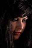 Nahaufnahmefrauenportrait Lizenzfreies Stockfoto