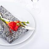 Rote fresia Blume Stockfoto