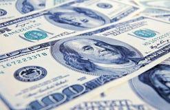 Nahaufnahmegeld-Dollarhintergrund Lizenzfreie Stockbilder