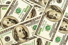 Nahaufnahmegeld-Dollarhintergrund Stockfotografie