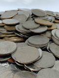 Nahaufnahmegeld von Thailand u. von x28; thailändisches Bad coins& x29; stockbild