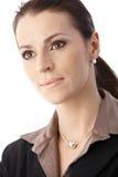 Nahaufnahmegeschäftsfrauportrait Lizenzfreies Stockfoto